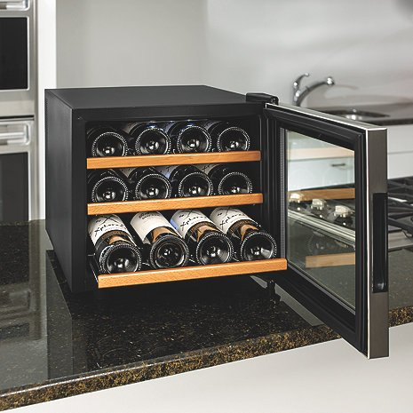 Wine-Enthusiast-272-02-13W-Stainless-SteelWood-Shelves-Silent-12-Bottle-Wine-Cooler-Stainless-0-0