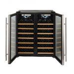 Wine-Enthusiast-272-48-02-51W-Silent-48-Bottle-Double-Door-Dual-Zone-Wine-Refrigerator-Stainless-Steel-0-0