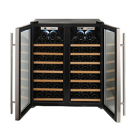 Wine-Enthusiast-272-48-02-51W-Silent-48-Bottle-Double-Door-Dual-Zone-Wine-Refrigerator-Stainless-Steel-0-0