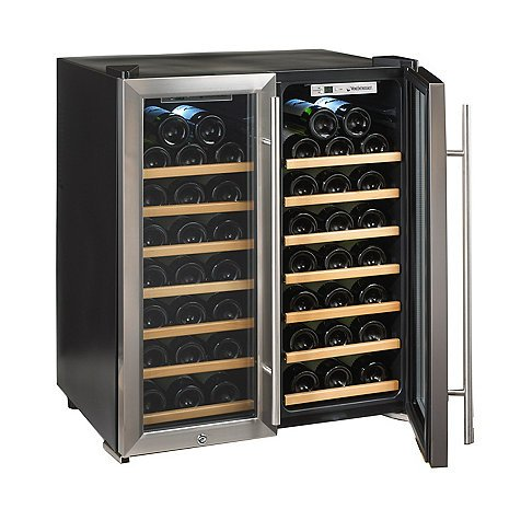 Wine-Enthusiast-272-48-02-51W-Silent-48-Bottle-Double-Door-Dual-Zone-Wine-Refrigerator-Stainless-Steel-0-1