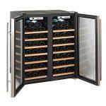 Wine-Enthusiast-272-48-02-51W-Silent-48-Bottle-Double-Door-Dual-Zone-Wine-Refrigerator-Stainless-Steel-0