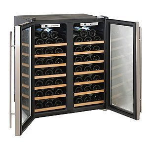 Wine-Enthusiast-272-48-02-51W-Silent-48-Bottle-Double-Door-Dual-Zone-Wine-Refrigerator-Stainless-Steel-0