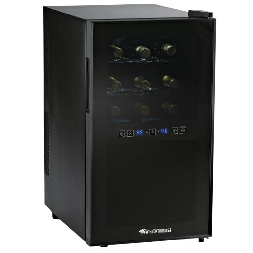 Wine-Enthusiast-Silent-18-Bottle-Two-Temp-Touchscreen-Wine-Refrigerator-0