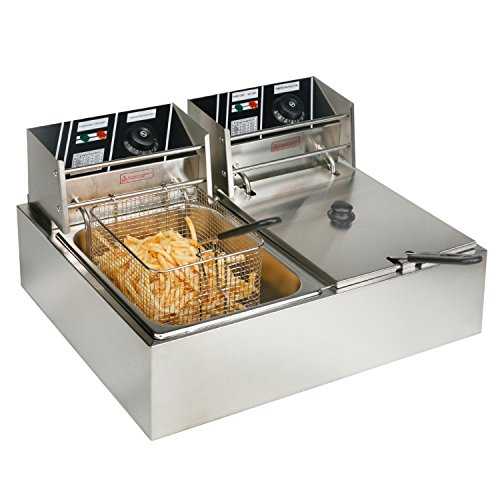 YHG-Electric-Dual-Single-Tanks-Deep-Fryer-Commercial-Tabletop-FryerBasket-Scoop-0-0