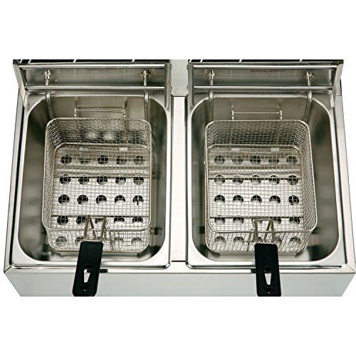 YHG-Electric-Dual-Single-Tanks-Deep-Fryer-Commercial-Tabletop-FryerBasket-Scoop-0-1