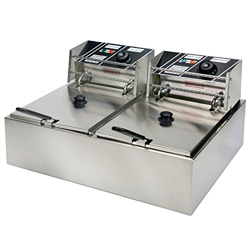 YHG-Electric-Dual-Single-Tanks-Deep-Fryer-Commercial-Tabletop-FryerBasket-Scoop-0-2