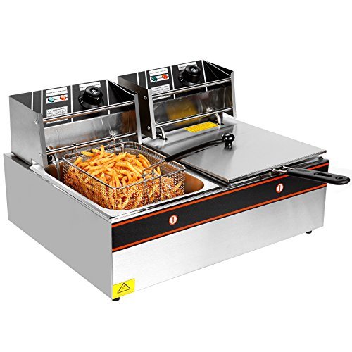 YHG-Electric-Dual-Single-Tanks-Deep-Fryer-Commercial-Tabletop-FryerBasket-Scoop-0