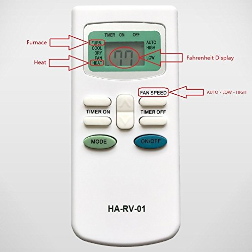 YING RAY Replacement for Carrier Air V Airv Rv Air Conditioners Remote  Control for 12-50095-00 12-50074-00 12-50152-00 68RV11302A 68RV14102A