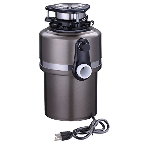 Yescom-1-HP-4200-RPM-Continuous-Feed-Household-Garbage-Disposer-for-Kitchen-Waste-Disposal-Operation-Black-0