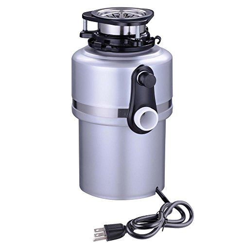Yescom-34HP-4200-RPM-Continuous-Feed-Household-Plug-In-Garbage-Disposer-for-Kitchen-Waste-Disposal-Operation-Silver-0