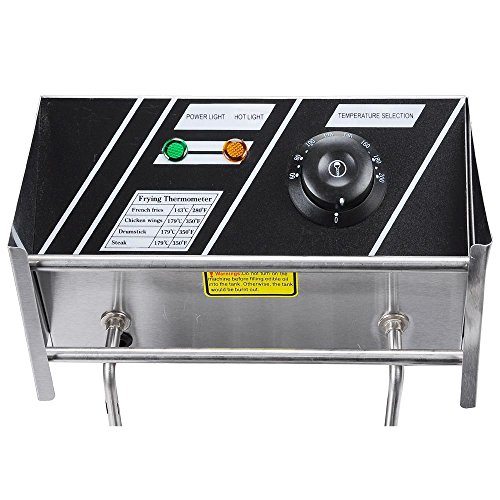Yescom-Commercial-12L-5000W-Stainless-Steel-Electric-Countertop-Deep-Fryer-Dual-Tank-Basket-0-0