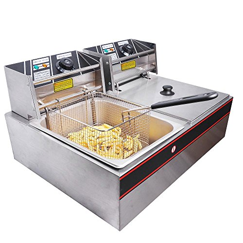 Yescom-Commercial-12L-5000W-Stainless-Steel-Electric-Countertop-Deep-Fryer-Dual-Tank-Basket-0