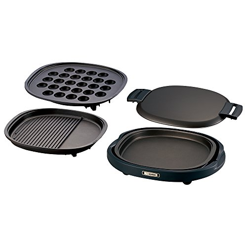 ZOJIRUSHI-Three-plates-grooved-grilled-meat-plate-and-large-octopus-plate-and-flat-plate-EA-BQ30-TD-0