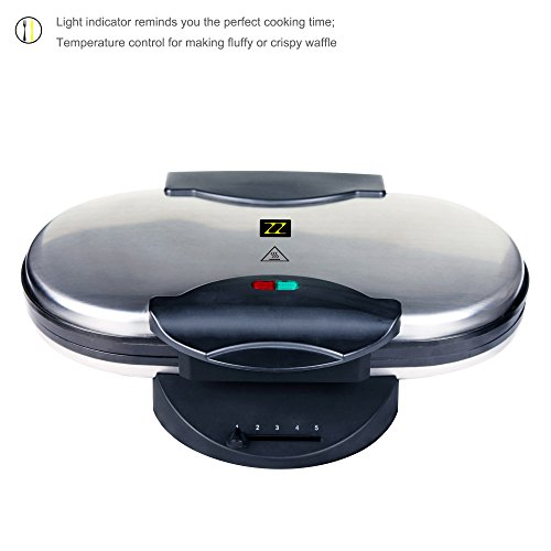 ZZ-WF330-10-in-1-Heart-Waffle-Maker-with-Non-Stick-Plate-1200W-BlackSilver-0-0